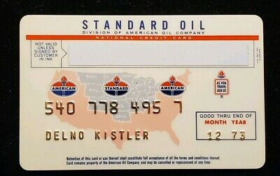 1973 Standard Oil credit card♡Free Shipping cc545