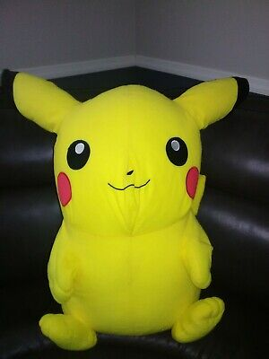 "Pokemon Company Giant Pikachu Plush Toy Factory 38"" x 55"" Yellow Large 2015 Rare"