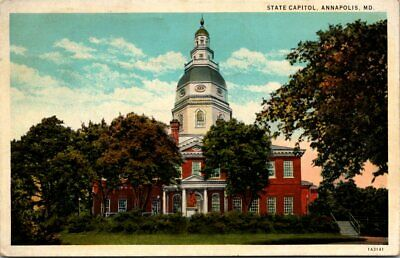 State Capitol Old Postcard The State House Annapolis Posted 1933