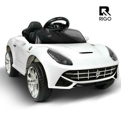Rigo Kids Ride On Car Electric Toy Battery Remote 12V Children White Cars
