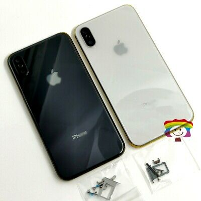 Apple iPhone X Battery Housing Back Door Glass Chassis Frame Cover With Buttons