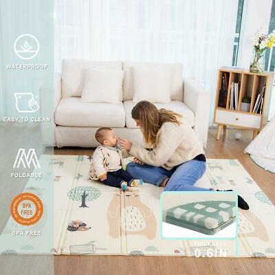 Baby Play Mat Folding Large Double Side NonSlip Waterproof Portable Playroom Kid