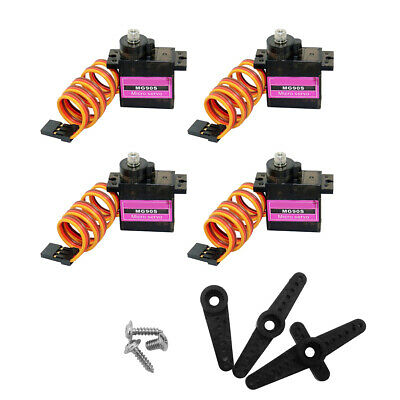 4X MG90S Metal Gear High Speed Micro Servo 9g für RC Plane Helicopter Boat Auto