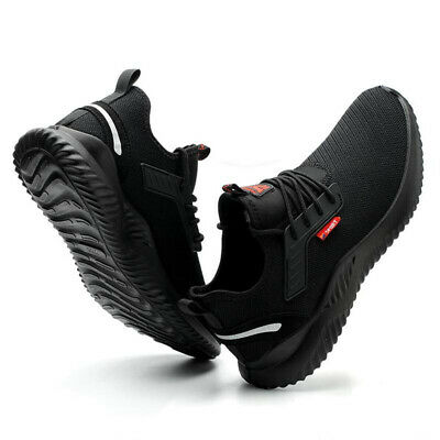 UK Men Safety Shoes for Women Steel Toe Trainers Lightweight Work Shoes Sports