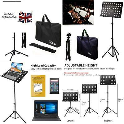 Malayas Heavy Duty Conductor Orchestral Sheet Music Stand Tripod Base Folding Ad
