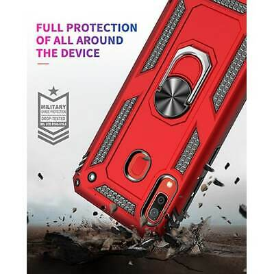 Samsung Galaxy A10s Hybrid Dual-Layer Armour Case With Magnetic Ring Stand