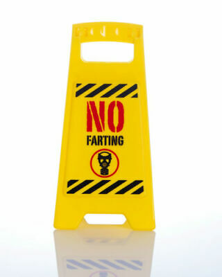 Office Desk Work Joke Prank Novelty Warning Sign Secret Santa Filler No Farting