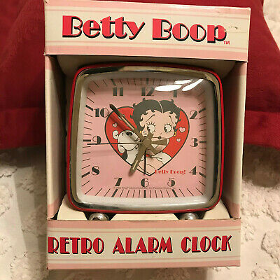 "Betty Boop Retro Alarm Clock - With Instructions - Requires ""Aa"" Battery"