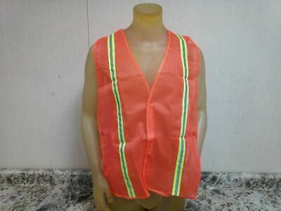 Brand Name 53YL96 8 Pk Universal Size Orange/Red High Visibility Vest