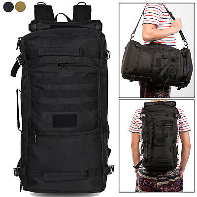 50L-60L Military Tactical Backpack Rucksack Waterproof Molle Camping Hiking Bag
