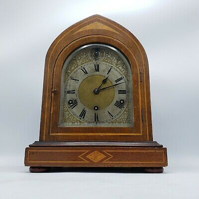 Antique Kienzle Dome Bracket Mantle Clock with Silver Dial - Chimes