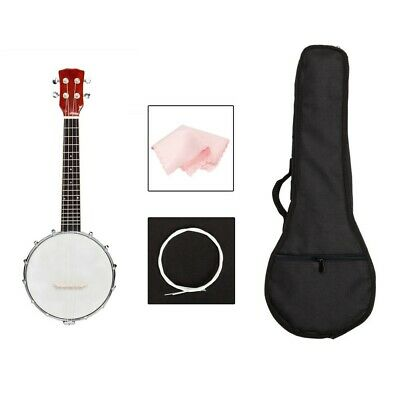 BRAND NEW 5 String Sapele Banjo with Closed Back 24 Brackets Head & Maple Neck