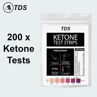 200 x Ketone Test Strips - KETO Urine Tests - Ketosis Ketostix Paleo