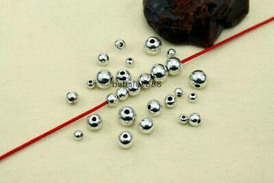 For Jewelry Making 100Pcs Spacer beads Wholesale Smooth Metal Round