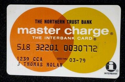 The Northern Trust Bank MasterCharge exp 79♡Free Shipping♡cc323♡Interbank