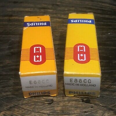 NOS Matched Pair Philips Holland E88CC SQ (Special Quality) - (High End 6922)