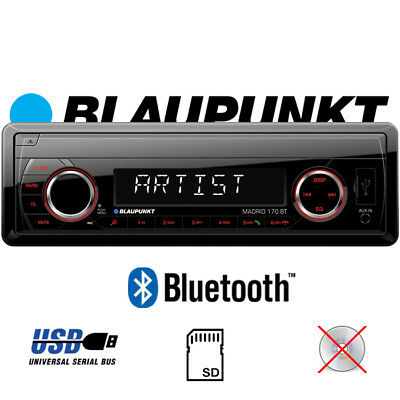 BLAUPUNKT MADRID 170 BT Radio - Bluetooth MP3 | SD | USB 4x40 Watt AUX Autoradio