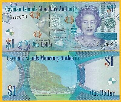 Cayman Islands 1 Dollar p-38 2018 UNC Banknote