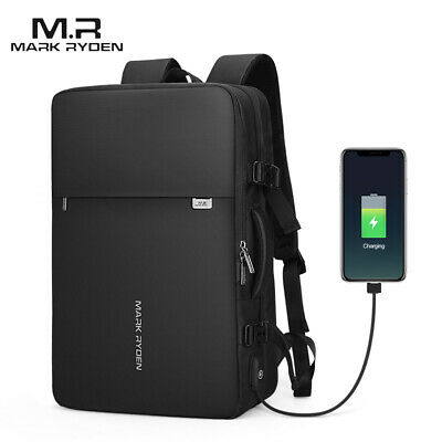 MARK RYDEN Expandable Anti-Thief Business Bag Waterproof USB Charging W2X5