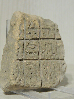 Ancient Stone Tablet  Fragment With Cuneiform Graffiti Symbols,Drawings