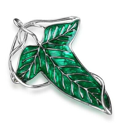 Lord of the Rings Leaf Necklace Brooch Pin Badge Hobbit Gift Xmas