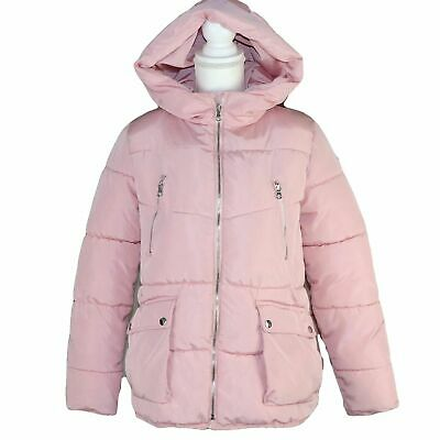Girls ZARA Puffer Jacket Warm Padded Winter Jacket with Hood Age 13-14 years / S