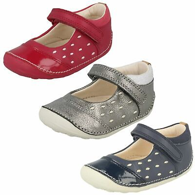 Girls Clarks Little Lou Toddler Hook & Loop Cruisers Casual Shoes Mary Jane Size