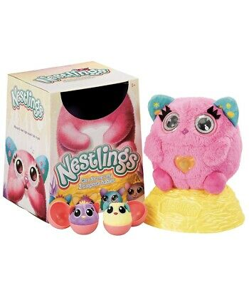 Nestlings Interactive Pet & Babies With Lights & Sounds Pink -