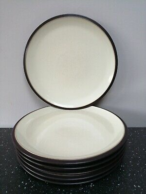 "Denby Energy Charcoal/Cream Dinner Plate 10.5"" dia, LISTING FOR 1, 6 AVAILABLE"