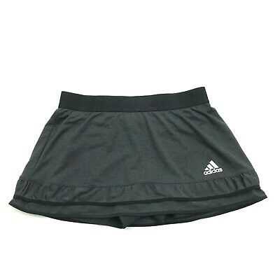 Adidas CLimachill Skorts Size M Women's Skirt Pull On Shorts Black Grey Lined