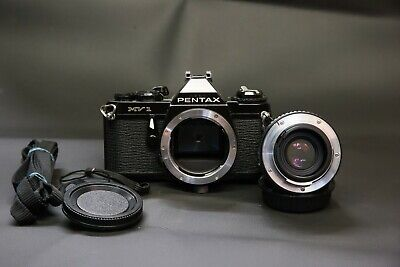 Pentax MV1 35mm film SLR camera with 50mm f2 prime lens SERVICED new seals batts