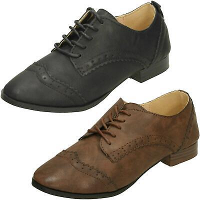 Girls Spot On Brogue Style 'School Shoes'