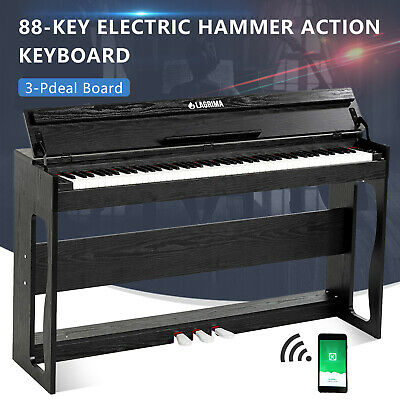88 Key Electric Weighted Action Digital Piano Keyboard w/3 Pedal&Adapter&H-Stand