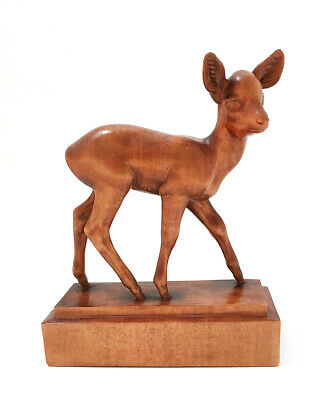 A Swiss Carved Brienz / Black Forest Bambi Deer  By Peter Huggler, 1861-1943