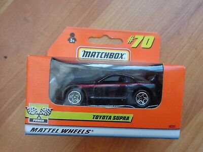 Vintage Matchbox #70 Toyota Supra Black Car Diecast Model Boxed