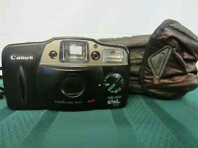 Canon Sure Shot Owl Date 35mm Point & Shoot Film Camera - TESTED - WORKS WELL