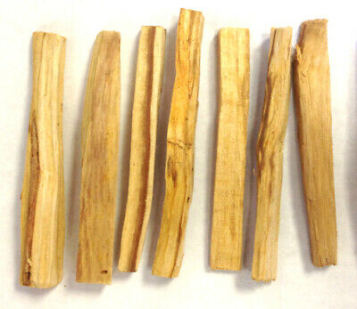 "Palo Santo Wood 10 Stick Lot, 5-6"" long (Incense Smudging, Cleansing), from Peru"