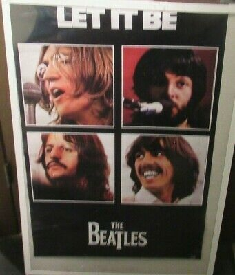 Beatles Poster New 2002 Rare Vintage Collectible Oop Fab 4 Let It Be