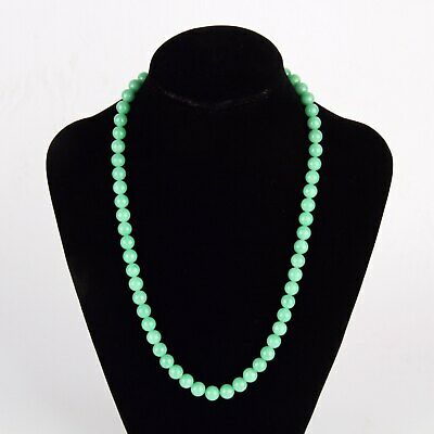 Chinese Exquisite Handmade Jadeite Jade Beads Necklace