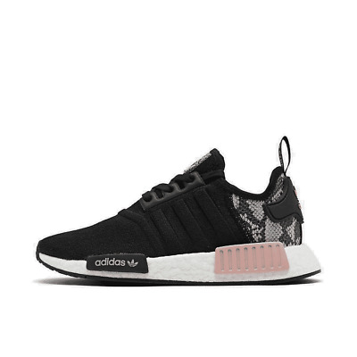 Women S Adidas Nmd R1 Casual Shoes Black Black Pink Spirit Fw5278