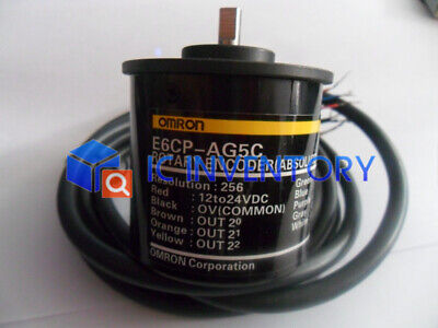ABSOLUTE 1PC Used OMRON ROTARY ENCODER E6CP-AG5C.256P//R