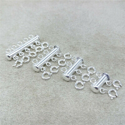Sterling Silver Layered Detangler Clasp Multi Necklace Clasp 925 Stamped