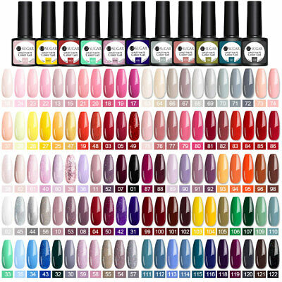 UR SUGAR 122 Farben UV Gel Nagellack Glitter lila Top Base Coat Gel Lack 7.5ml