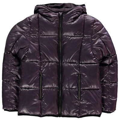 USA Pro Quilted Jacket Junior Purple Girls Size 7-8 Years *REF131*