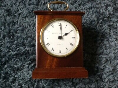 Wooden Cased Knight & Gibbins Battery Operated Clock - Working Order