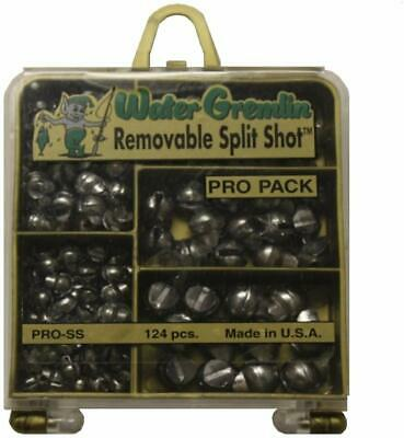 Danielson 124 Pieces Removable Split Shot Assortment Fishing Sinkers Weights