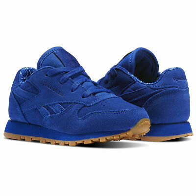 Reebok Infant Classic Leather TDC Trainers Children baby Shoes BD5158 Royal Blue