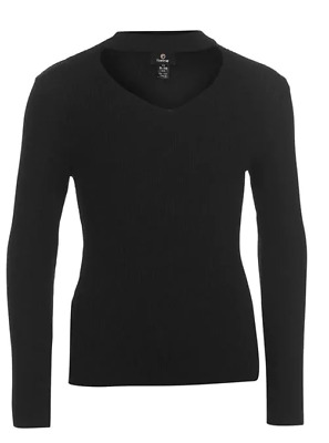 Firetrap Ribbed Jumper Junior Girls Black Keyhole Size 11-12 Years *REF133