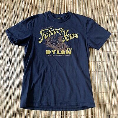 Lucky Brand Bob Dylan Forever Young 65 T-Shirt Mens Small Brown Vtg Style Folk