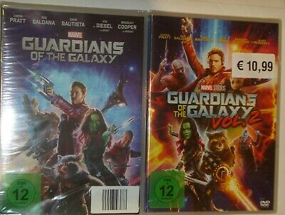 Guardians of the Galaxy 1+2  DVD Marvel  NEU OVP